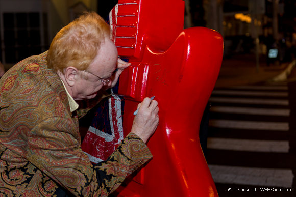 Peter Asher Signing Guitar