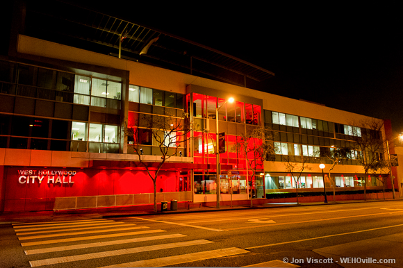 City Hall Coated in Red