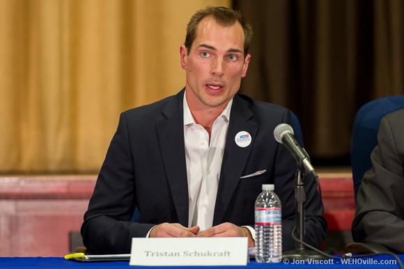 Tristan Schukraft at the council debate