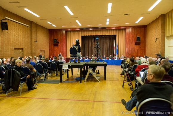 city council crowd