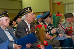 Russian-speaking veterans celebrate victory in Europe day