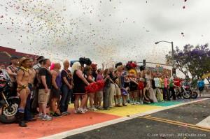 rainbow crosswalk dedication