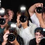 paparazzi, tv cameras