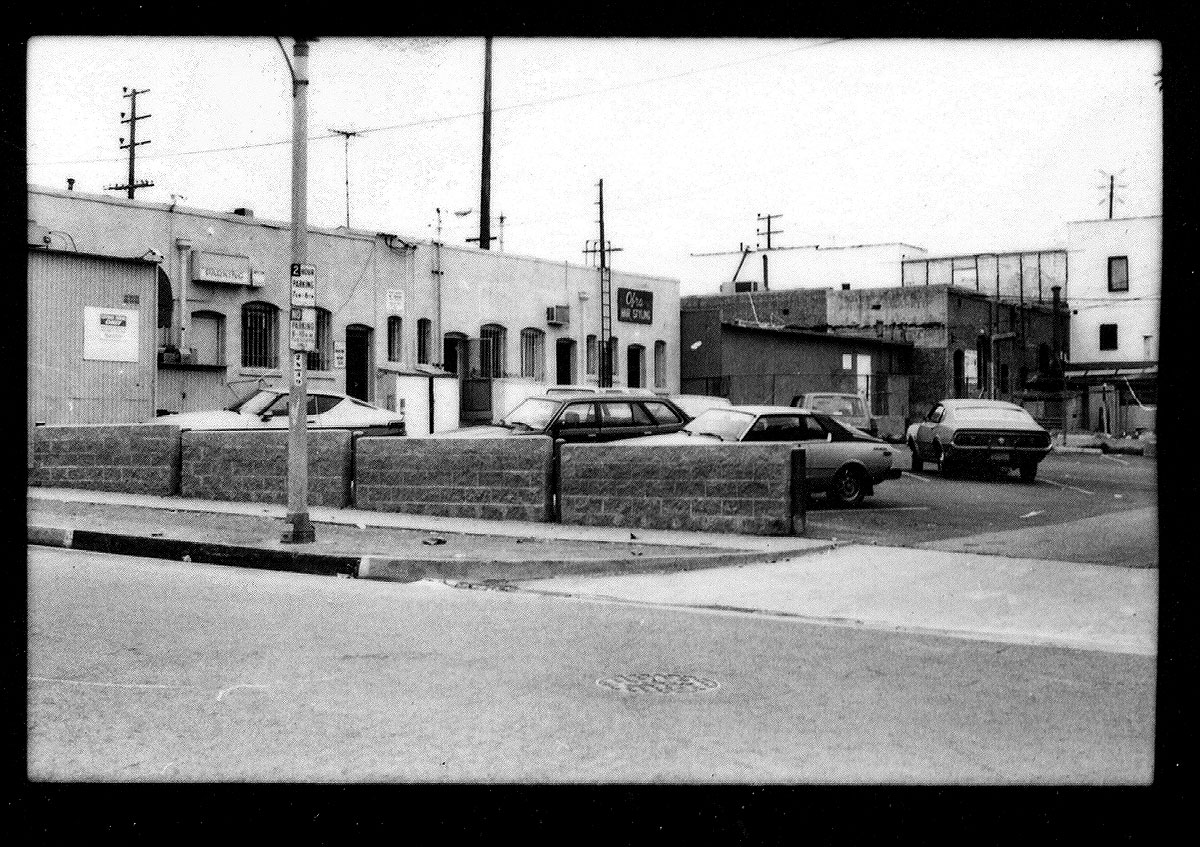 The alley and parking lot behind Gold Coast, where gay strangers got acquainted in 1982