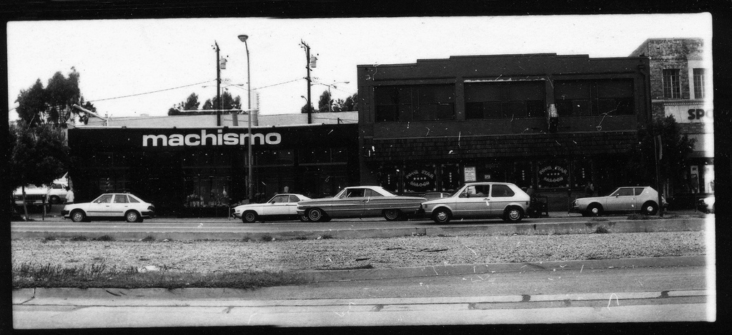 Machismo, in the 8000 block of Santa Monica Boulevard, was a chic gay boutique in 1982, with Four Star Saloon next door