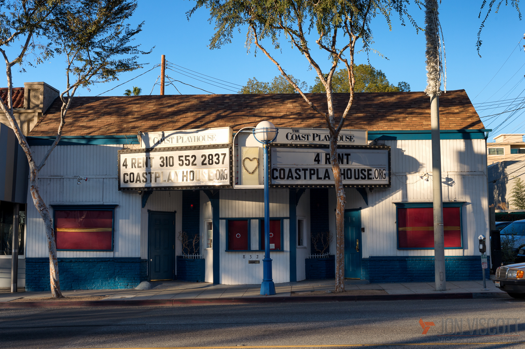 ... now the Coast Playhouse, another WeHo theatre that has bitten the dust (Photo by Jon Viscott)