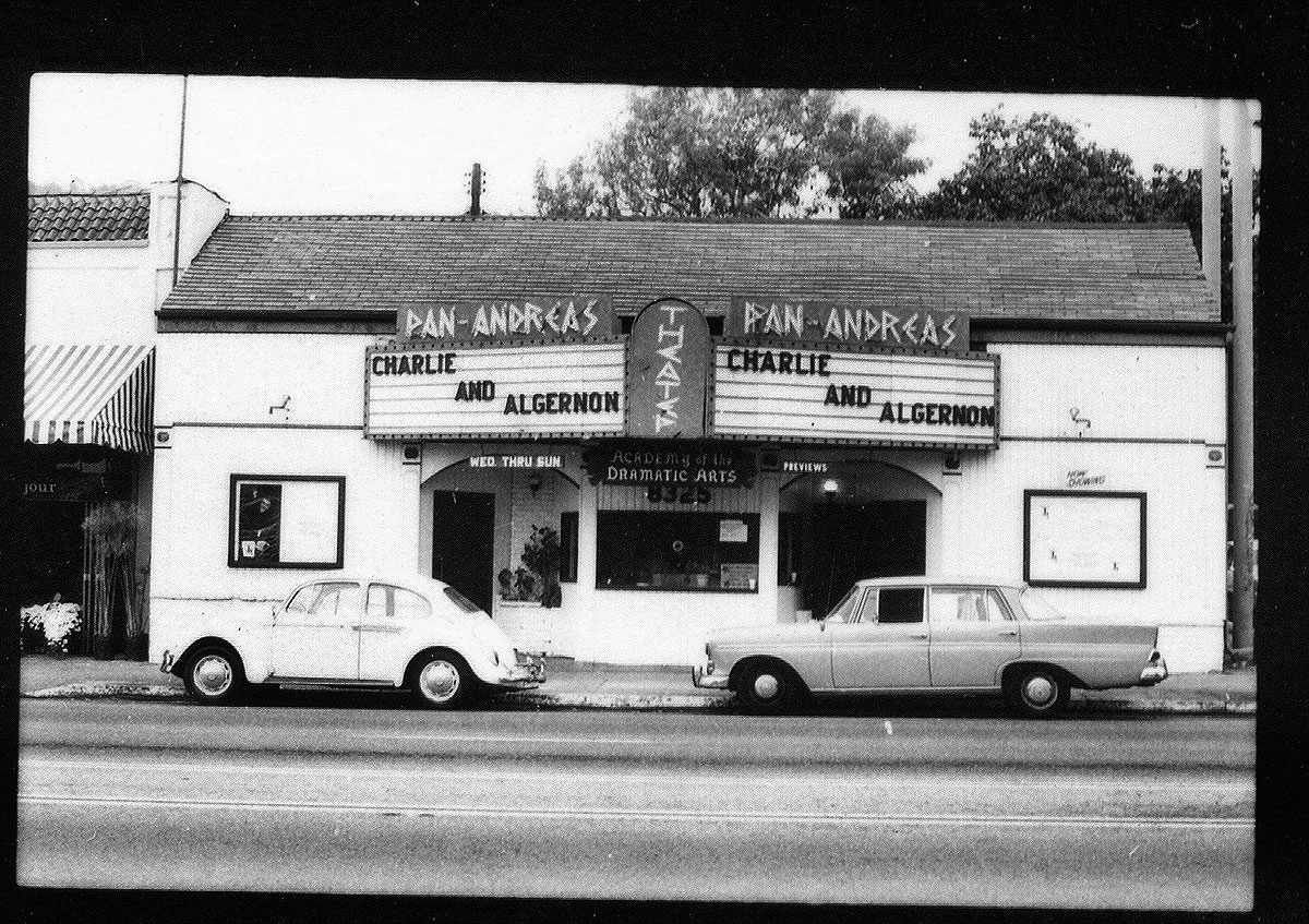 The Pan Adreas Theatre on Santa Monica Boulevard between Sweetzer and Kings in 1982, a healthier time for WeHo theatre.