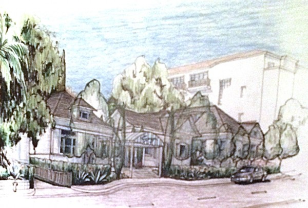 Architectural rendering of proposed renovation of the San Vicente Inn. (Appleton & Associates, architect)