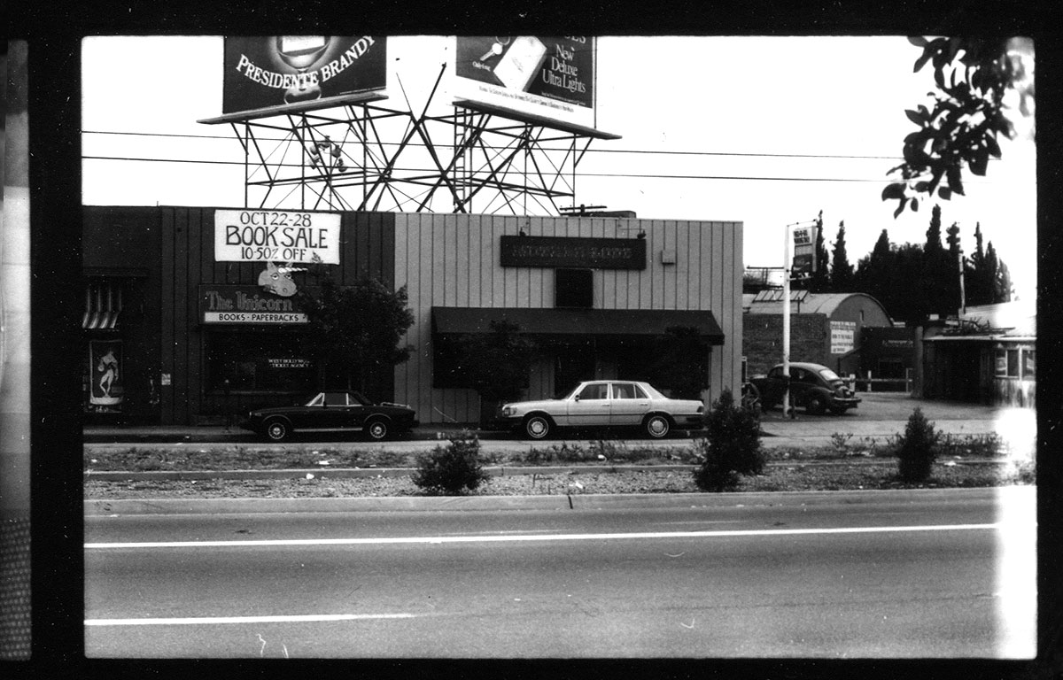"""Motherlode, WeHo's other iconic gay """"dive"""" bar, and Unicorn, the """"adult"""" emporium, in 1982"""