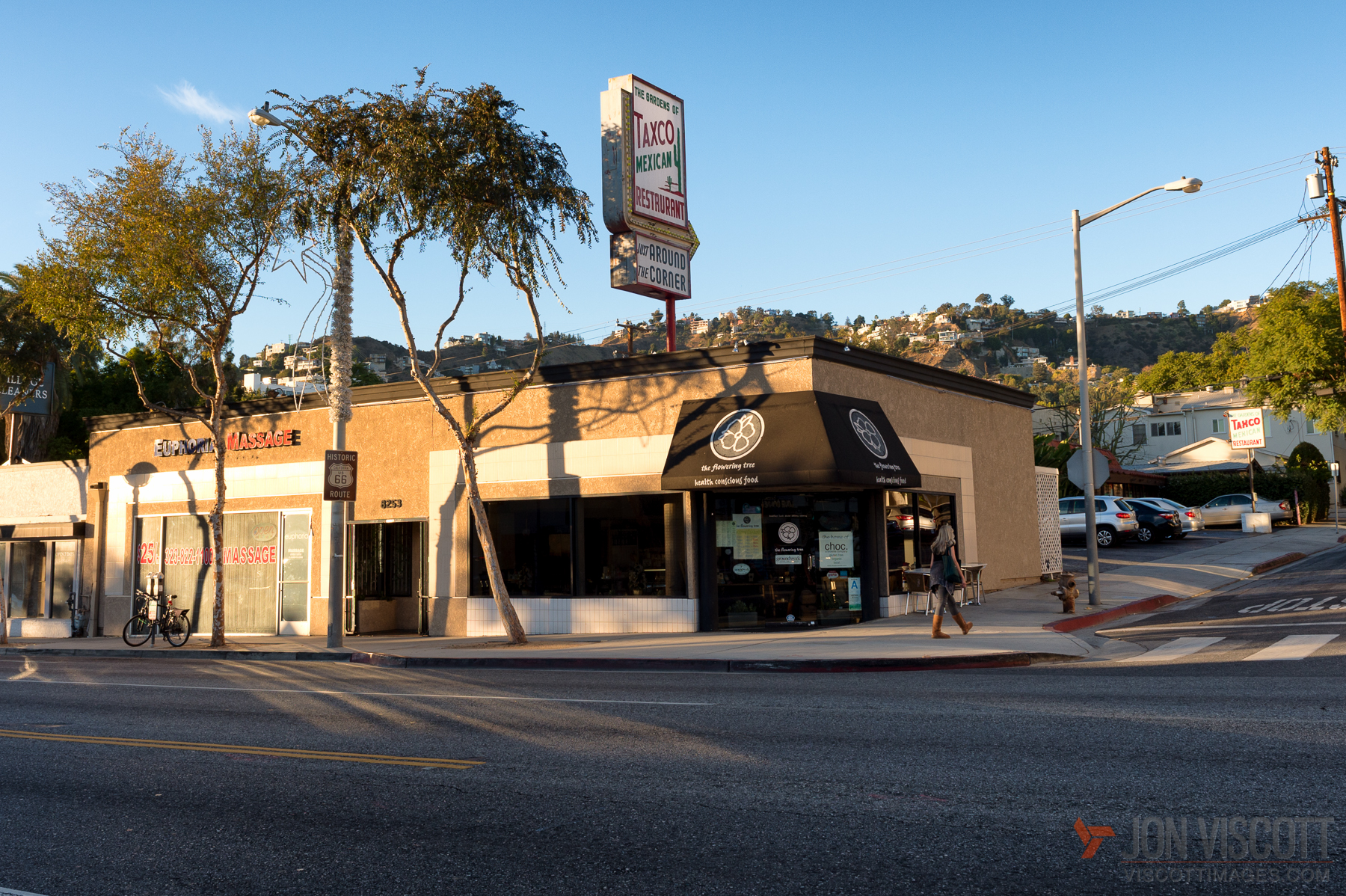 ... now the decidedly more healthy Flowering Tree vegetarian restaurant and a massage parlor (Photo by Jon Viscott)