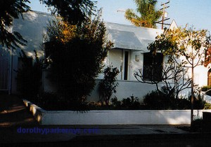 Dorothy Parker's home at 8983 Norma Place. (Photo by Mark Lopez)