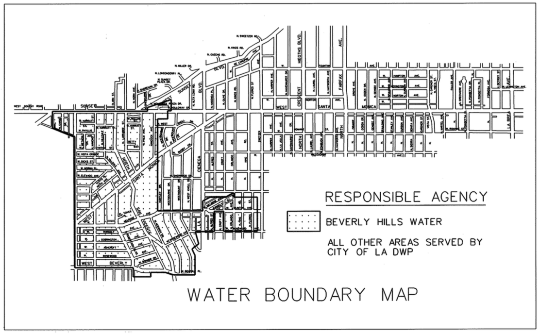 Weho water boundary map
