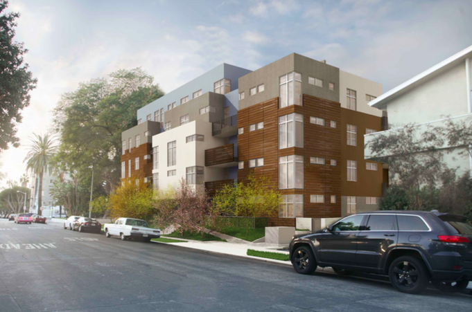Illustration of proposed 8017-8028 Norton Ave. project (Levin-Morris Architects).