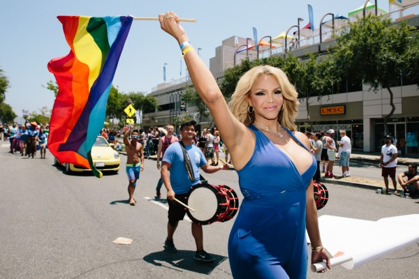 A transgender marcher in the 2015 L.A. Pride parade. (Photo by David Vaughn)