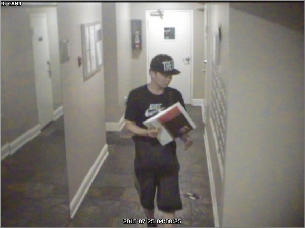 Image of suspected mail thief