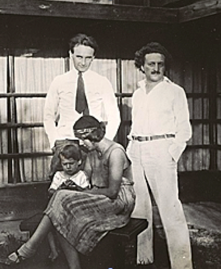 Richard Neutra, left, and Rudolph Schindler with Pauline and Mark Schindler at the Kings Road house in 1928 photo (Source Southern California Architectural History)