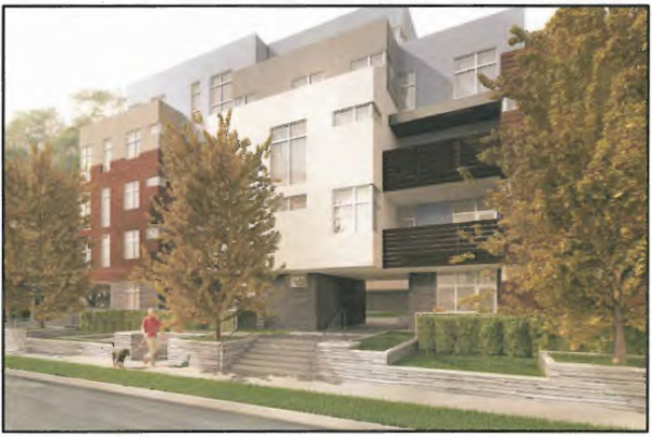 Rendering of proposed 8017-8029 Norton Ave. project