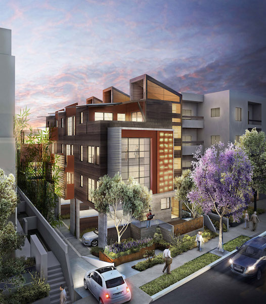 Rendering of 1035 N. Vista St. project (WorkPlays Studio Architecture)