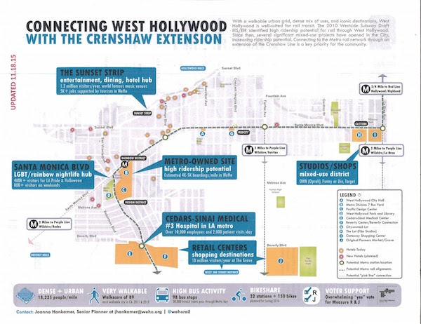 City of West Hollywood flyer promoting Crenshaw Line Extension.