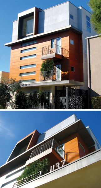 A building designed by Ric Abramson at 1137 Hacienda Place.