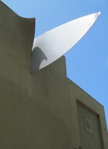 Claes Oldenburg's 'Knife' at 817 Hillsdale Ave.