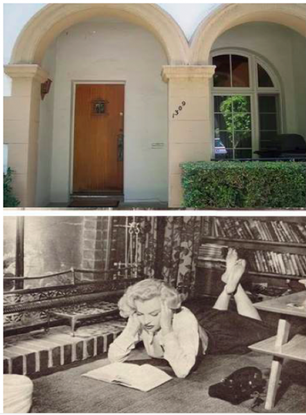 Monroe lived at the Romanesque Villa apartments on Harper Avenue in the 1950, sharing a place with drama coach Natasha Lytess. She studies at the apartment for courses she took at UCLA.