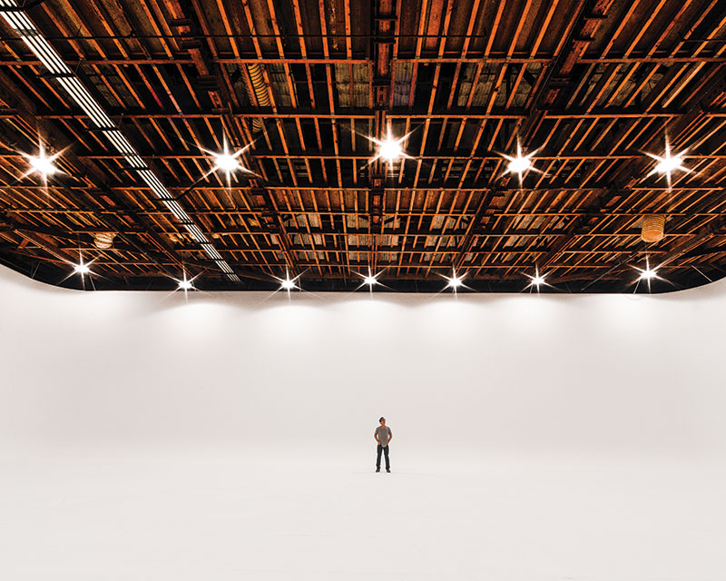 A vast studio at The Lot (Photo by Paolo Fortades)