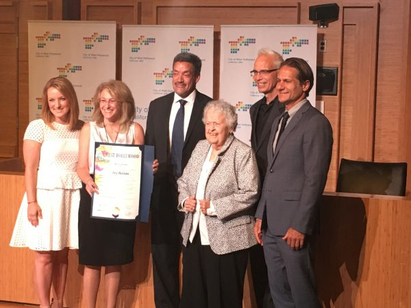 Ivy Bottini surrounded by members of the West Hollywood City Council