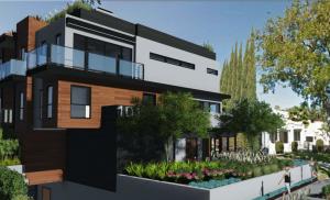 Ilustration of proposed development at 1011 Ogden Drive, (architect Robert Abramson)
