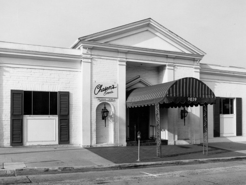 Chasen's restaurant, 9039 Beverly Blvd., designed by architect Paul Williams (Security Pacific Collection, L.A. Public Library